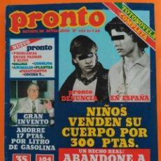 Coleccionismo de Revista Pronto: REVISTA PRONTO Nº 428 (1980) TEQUILA, SERRAT, CARMEN SEVILLA, PECOS, STALLONE, TRIO ACUARIO. Lote 215815293