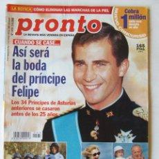 Coleccionismo de Revista Pronto: REVISTA PRONTO 1478 ANA OBREGON CAROLINA MONACO NADIUSKA JORGE SANZ CAMILO SESTO BELEN ESTEBAN. Lote 218149541