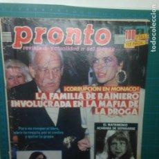 Coleccionismo de Revista Pronto: REVISTA PRONTO Nº867 17-12-88 CORRUPCION EN MONACO - ISABEL PANTOJA. Lote 218335836