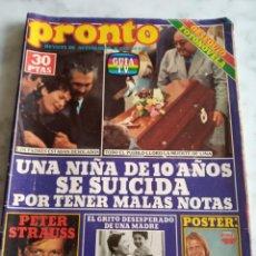 Coleccionismo de Revista Pronto: PRONTO Nº 420 - 1980 - PEPE SANCHO Y MARIA GIMENEZ,SARA MONTIEL,DAVID SOUL,JACLYN SMITH. Lote 244924310