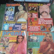 Coleccionismo de Revista Pronto: LOTE 29 REVISTAS DE PRONTO VARIOS. Lote 219150851