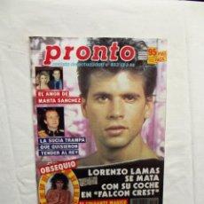 Colecionismo da Revista Pronto: REVISTA PRONTO Nº 823 13-2-88 LORENZO LAMAS. Lote 220769556