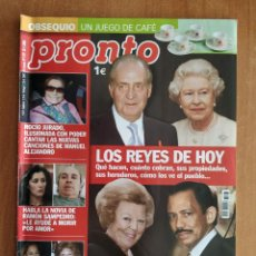 Coleccionismo de Revista Pronto: REVISTA PRONTO 1707. RAMON SAMPEDRO. EL GRAN WYOMING. MADONNA. VERÓNICA FORQUÉ. TUTANKAMON. ALAMEDA. Lote 221449483