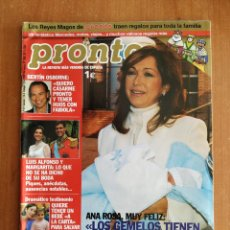 Coleccionismo de Revista Pronto: REVISTA PRONTO 1698. ANA ROSA QUINTANA. BERTÍN OSBORNE. PAZ VEGA. CARMEN SEVILLA. YASER ARAFAT.. Lote 221451730