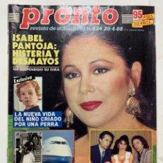 Coleccionismo de Revista Pronto: REVISTA PRONTO DE 1988 Nº 834 SABRINA. Lote 221573806