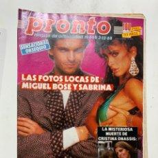 Coleccionismo de Revista Pronto: REVISTA PRONTO DE 1988 Nº 865 SABRINA. Lote 221574803