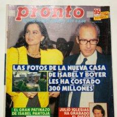 Coleccionismo de Revista Pronto: REVISTA PRONTO DE 1988 Nº 839 SABRINA SAMANTHA FOX. Lote 221577807