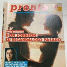 Coleccionismo de Revista Pronto: REVISTA PRONTO DE 1988 Nº 835. Lote 221578621