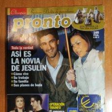 Coleccionismo de Revista Pronto: PRONTO Nº 1545. MASAKO. LIBERTO RABAL. GISELA OT. ESPARTACO.MARTIRIO.LETICIA SABATER.BORIS IZAGUIRRE. Lote 222463767