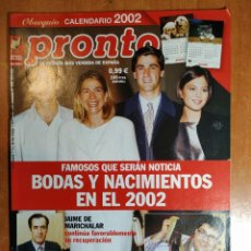 Coleccionismo de Revista Pronto: PRONTO Nº 1549. PACO LOBATÓN. MARIANO ALAMEDA. PAULA VÁZQUEZ. GLORIA TREVI. KARINA. IVONNE REYES.. Lote 222464161