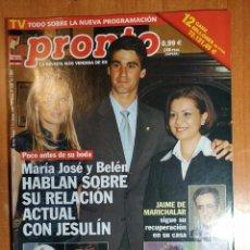Coleccionismo de Revista Pronto: PRONTO Nº 1550. CHARO REINA. NATALIA ESTRADA. AMPUTADOS SIERRA LEONA. MAGIC JOHNSON.CARLOS LARRAÑAGA. Lote 222464483