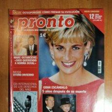 Coleccionismo de Revista Pronto: PRONTO Nº 1594. MARIBEL VERDÚ. LOLITA FLORES. ESTOPA. ANA BELEN. ESTRELLA MORENTE. ENRIQUE ANAUT.. Lote 222469496
