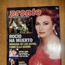 Coleccionismo de Revista Pronto: PRONTO Nº 1779. ESPECIAL MUERTE ROCIO JURADO. HUGH HEFNER. MARILYN MONROE. NATALIA OT. BIMBA BOSÉ.. Lote 222518840