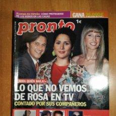 Coleccionismo de Revista Pronto: PRONTO Nº 1778. MARADONA. SHAKIRA. PRESA LAS TRES GARGANTAS. PAZ VEGA. VALDERRAMA. URDANGARIN.PATAKY. Lote 222518952