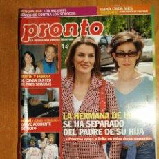 Coleccionismo de Revista Pronto: PRONTO Nº 1777. ERIKA ORTIZ. ACEITE DE COLZA. BERTIN OSBORNE. ALMODOVAR. NINA OT. DAVOR SUKER. BOSÉ.. Lote 222519098