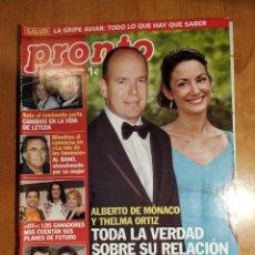 Coleccionismo de Revista Pronto: PRONTO Nº 1747. THELMA ORTIZ. BELEN RUEDA. MAR FLORES. MABEL LOZANO. CARMEN SEVILLA. SORAYA OT.. Lote 222579737