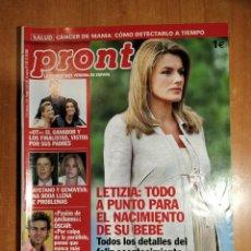 Coleccionismo de Revista Pronto: PRONTO Nº 1746. PASIÓN DE GAVILANES. IDAIRA OT. PACO LEÓN. SECTA RAELIANOS. CHENOA. LOLITA FLORES.. Lote 222579986