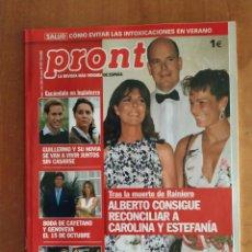 Coleccionismo de Revista Pronto: PRONTO Nº 1737. CAYETANA GUILLÉN. ELSA PATAKY. ANA DUATO. BORJA ALONSO. PACO CAMINO. PEPE NAVARRO.. Lote 222680706