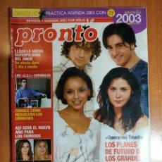Coleccionismo de Revista Pronto: PRONTO Nº 1601. IMPERIO ARGENTINA. SANCHO GRACIA. ROCIO MADRID. CARMEN SARMIENTO. LAS VIRTUDES. IBAR. Lote 222683203
