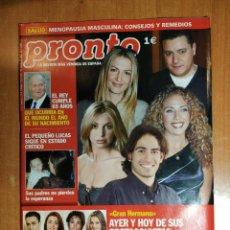 Coleccionismo de Revista Pronto: PRONTO Nº 1602. ANA OBREGÓN. ENCARNITA POLO. VEGA. EMILIO ARAGÓN. SARA MONTIEL. VERÓNICA FORQUÉ.. Lote 222684656