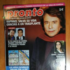 Coleccionismo de Revista Pronto: PRONTO Nº 1614. MAR FLORES. RAPHAEL. DOCTORA VIRUS. SILVIA ABASCAL. FERNANDO ESTESO. JESÚS BONILLA.. Lote 222687368