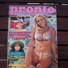 Coleccionismo de Revista Pronto: PRONTO / JEANETTE, CARMEN SEVILLA, MARISOL & ANTONIO GADES, GILBERT BECAUD, VICTORIA PRINCIPAL. Lote 222913403
