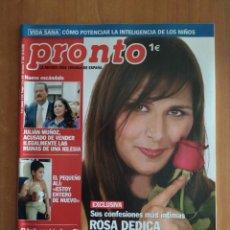 Colecionismo da Revista Pronto: PRONTO Nº 1642. CARLOS FUENTES.CRISTINA TÁRREGA.NATALIA MILLÁN.MARTA SÁNCHEZ.JUAN PARDO. LALLA SALMA. Lote 222933391