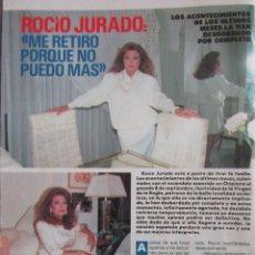 Colecionismo da Revista Pronto: RECORTE REVISTA PRONTO Nº 909 1989 ROCÍO JURADO. PORTADA Y 6 PGS. Lote 224023265