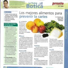 Coleccionismo de Revista Pronto: 245 FASCICULOS DE LA NUEVA BOTICA DER LA REVISTA PRONTO. Lote 226651165