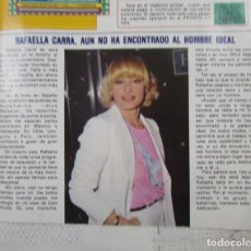 Coleccionismo de Revista Pronto: RECORTE REVISTA PRONTO Nº 482 1981 RAFFAELLA CARRÁ. Lote 226868610