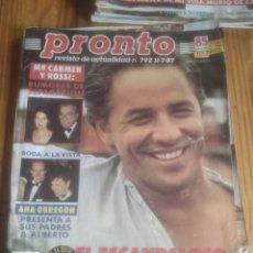 Coleccionismo de Revista Pronto: PRONTO 792 ANA OBREGÓN .DON JOHNSON.. Lote 227157690