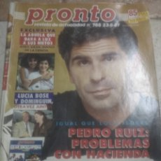 Coleccionismo de Revista Pronto: PRONTO N785.SARA MONTIEL.LUCIA BOSE.SILVIA PANTOJA.ROCIO JURADO. Lote 227217395