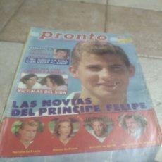 Coleccionismo de Revista Pronto: PRONTO N800.ESPARTACO.PRINCIPE DE ESPAÑA..MARADONA.NORMA DUVAL.EL NANI.STALLONE. Lote 227223515