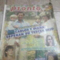 Coleccionismo de Revista Pronto: PRONTO N810 CHELO(LUTE.)TITANIC. Lote 227225550