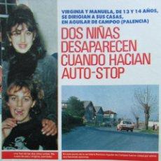 Coleccionismo de Revista Pronto: RECORTE REVISTA PRONTO Nº 1046 1992 MANUELA TORRES Y VIRGINIA GUERRERO DESAPARECIDAS 4 PGS. Lote 245525460