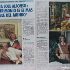 Collectionnisme de Magazine Pronto: RECORTE REVISTA PRONTO Nº 712 1985 MARIA JOSÉ ALFONSO. NORMA DUVAL. Lote 228127910