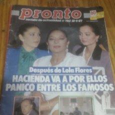Coleccionismo de Revista Pronto: PRONTO N780 .SEAN CONNERY.MARADONA.LOLA FLORES.DAVID SOUL. Lote 228175275