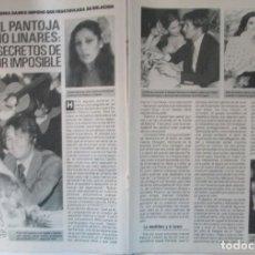 Collezionismo di Rivista Pronto: RECORTE REVISTA PRONTO Nº 861 1988 ISABEL PANTOJA Y PALOMO LINARES 3 PGS Y PORTADA. Lote 228443205