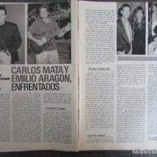 Coleccionismo de Revista Pronto: RECORTE REVISTA PRONTO N.º 1064 1992 SONIA DE ROSARIO, OLE-OLE. ROCIO JURADO. CARLOS MATA. Lote 287672723