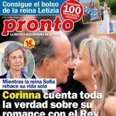 Coleccionismo de Revista Pronto: REVISTA PRONTO 2522. CORINNA CUENTA TODA LA VERDAD. Lote 269486203