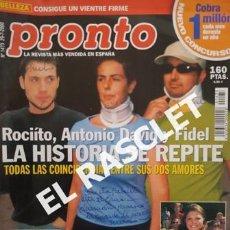 Coleccionismo de Revista Pronto: ANTIGUA REVISTA PRONTO - NUMERO 1473 - JULIO 2000. Lote 233978545