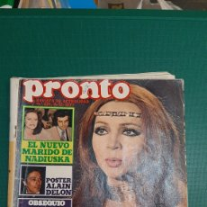 Coleccionismo de Revista Pronto: PRONTO 291 1977 SARA MONTIEL BODA /NADIUSKA MARIDO/ POSTER ALAIN DELON HUMOR SEROLÓGICO. Lote 235982040
