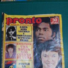 Coleccionismo de Revista Pronto: PRONTO 409 1980 CIOLACION NIÑA PADRE/ BRUJA VIDA RAICES GEORGE STANDFORD /MIGUEL BOSE LONDRES/. Lote 235983245