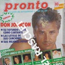 Coleccionismo de Revista Pronto: ANTIGÜA REVISTA PRONTO - NUMERO 769 - FECHA 31-1-1987. Lote 236390885