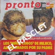 Coleccionismo de Revista Pronto: ANTIGÜA REVISTA PRONTO - NUMERO 762 - FECHA 13-12-1986. Lote 236403290