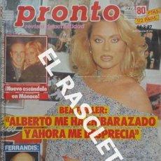 Coleccionismo de Revista Pronto: ANTIGÜA REVISTA PRONTO - NUMERO 773 - FECHA 28-02-1987. Lote 236403670