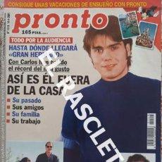 Coleccionismo de Revista Pronto: ANTIGÜA REVISTA PRONTO - NUMERO 1510 - FECHA 14-04-2001. Lote 236407085