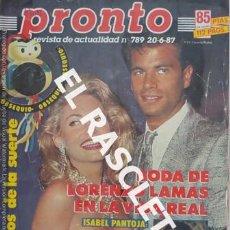 Coleccionismo de Revista Pronto: ANTIGÜA REVISTA PRONTO - NUMERO 789 - FECHA 20-061987. Lote 236407475