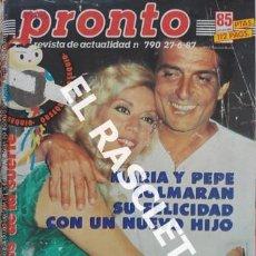 Coleccionismo de Revista Pronto: ANTIGÜA REVISTA PRONTO - NUMERO 790 - FECHA 27-061987. Lote 236407750