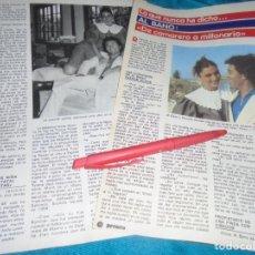 Coleccionismo de Revista Pronto: RECORTE : AL BANO, DE CAMARERO A MILLONARIO. PRONTO, JUNIO 1982 (#). Lote 236696170